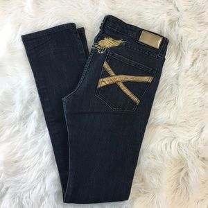 Robin's Jean with Gold Wings and X Pockets